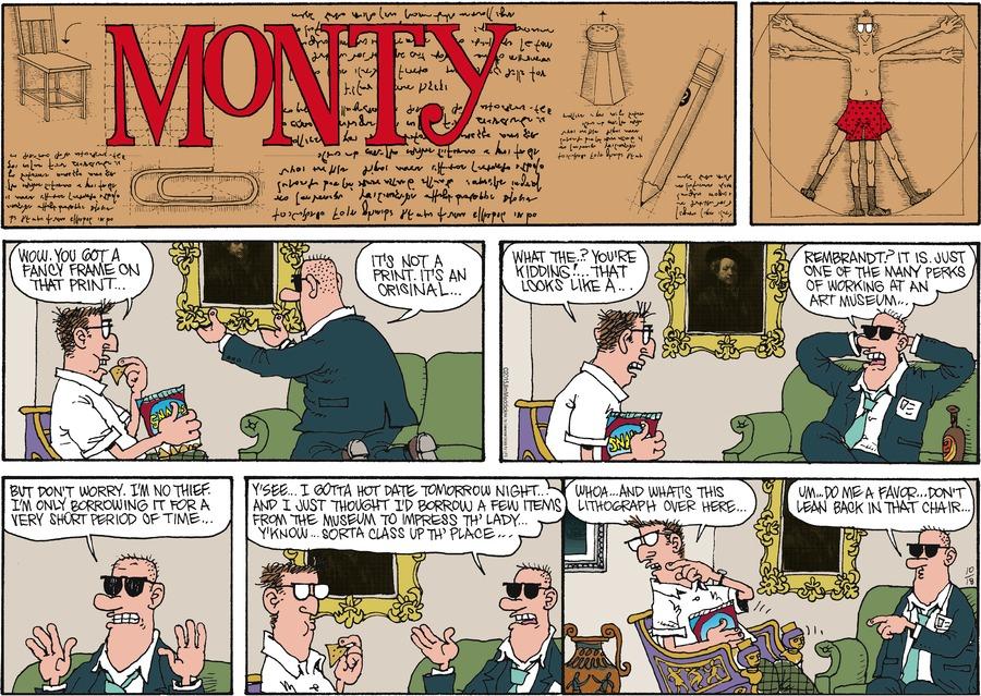 Monty for Oct 18, 2015 Comic Strip