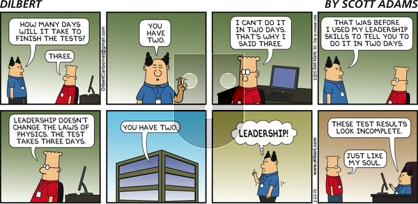 Dilbert - Sunday February 22, 2015 Comic Strip