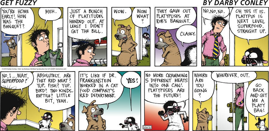 Get Fuzzy Comic Strip for March 31, 2019