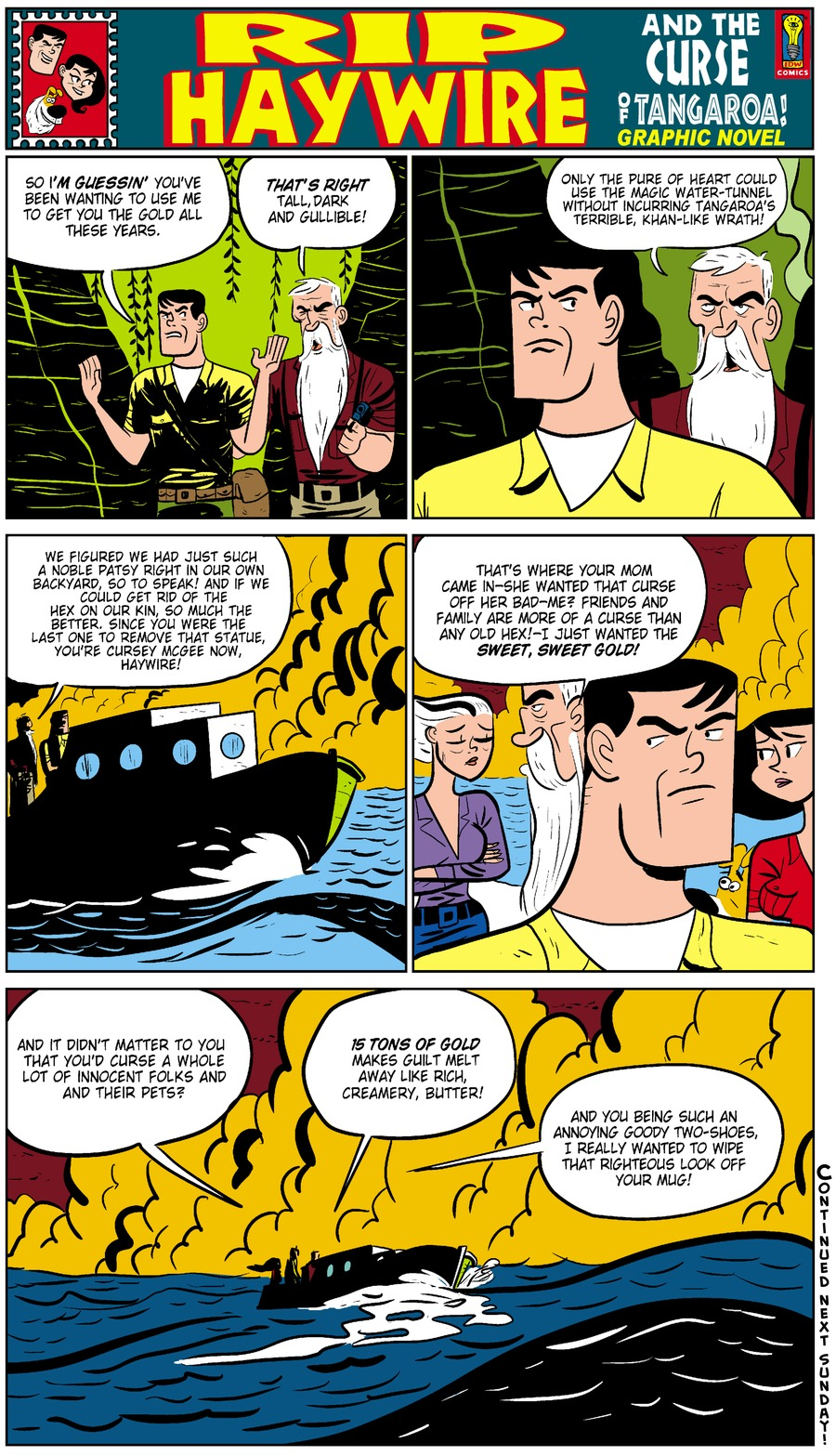Rip Haywire Comic Strip for February 08, 2015