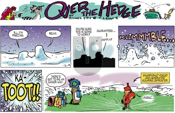 Over the Hedge on Sunday December 4, 2016 Comic Strip
