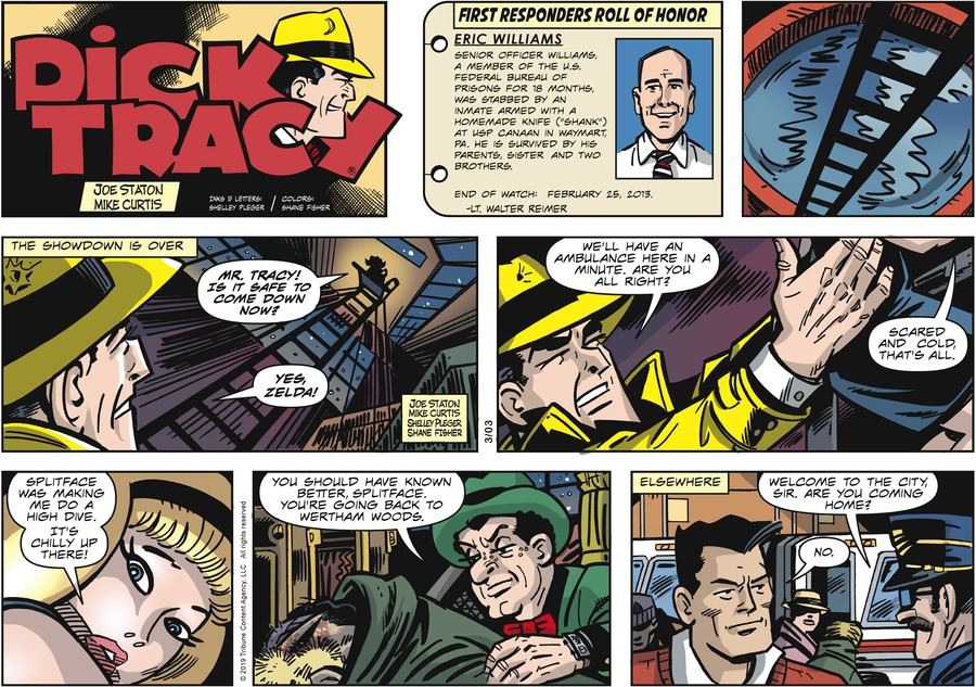Dick Tracy by Joe Staton and Mike Curtis for March 03, 2019
