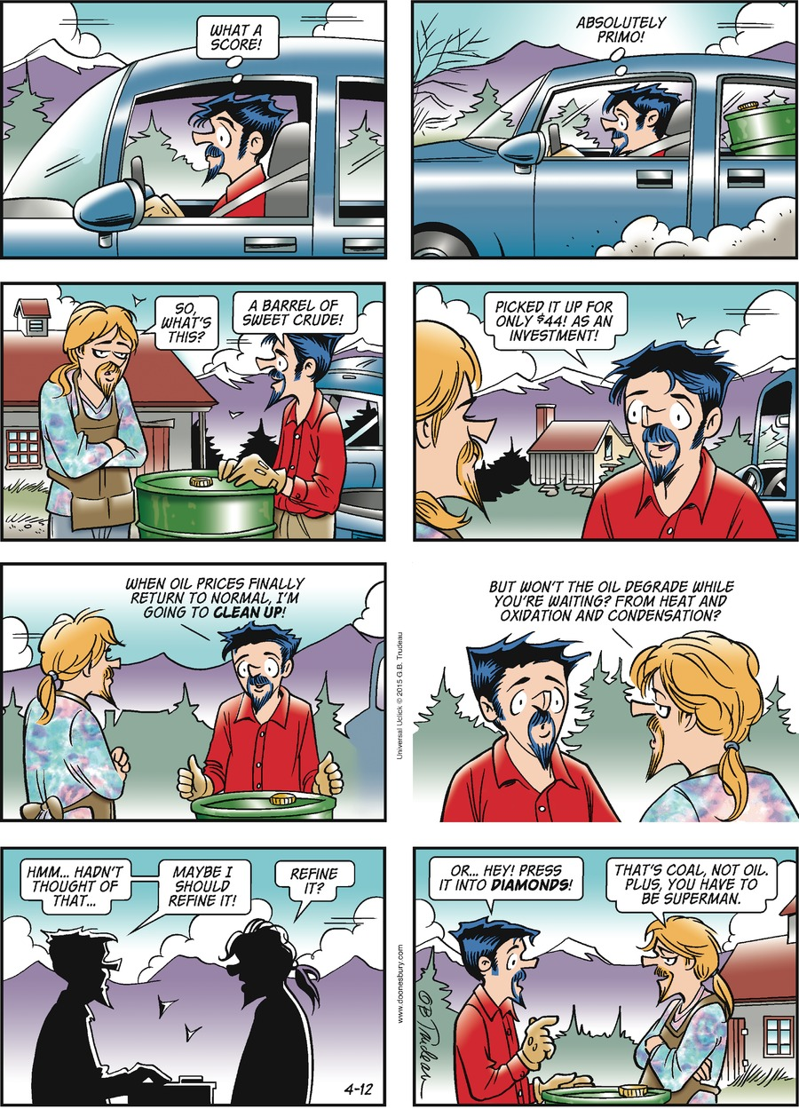 Doonesbury Comic Strip for April 12, 2015