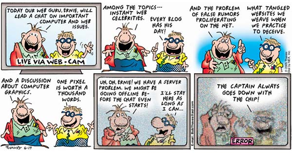 Frank and Ernest Comic Strip for June 19, 2005