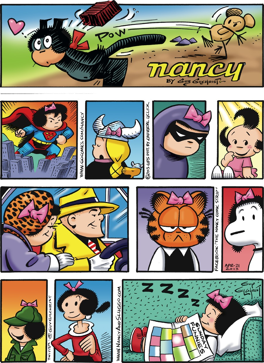 Nancy for Apr 21, 2013 Comic Strip