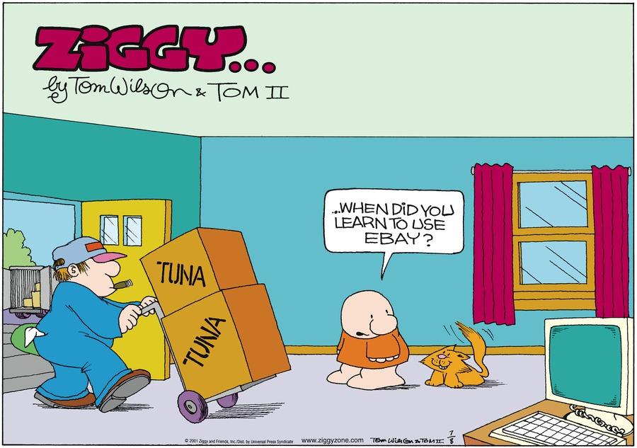Ziggy for Jul 8, 2001 Comic Strip