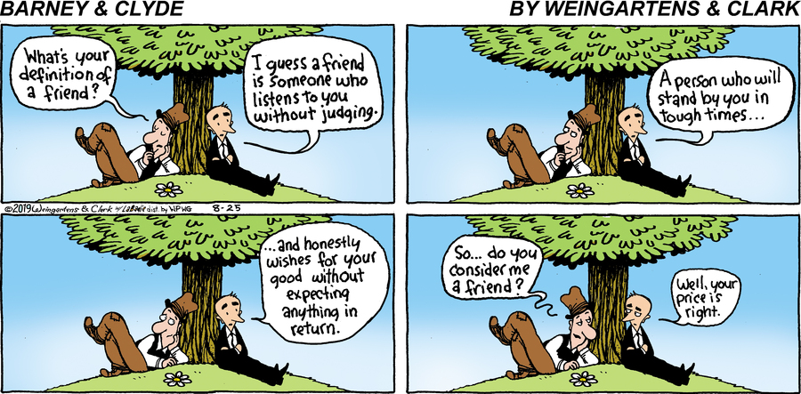 Barney & Clyde Comic Strip for August 25, 2019