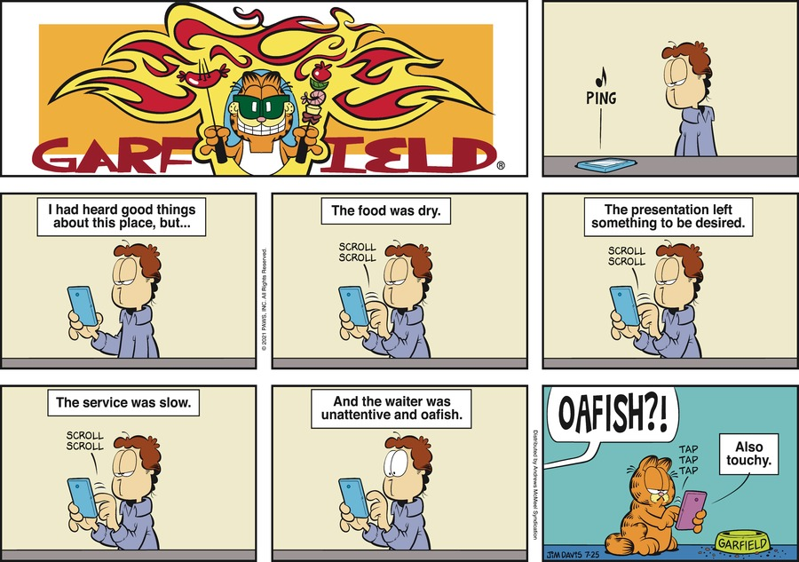 Garfield Comic Strip for July 25, 2021