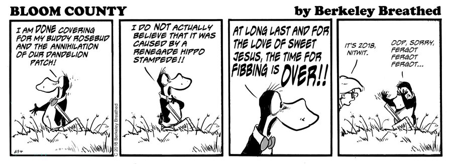 Bloom County 2019 Comic Strip for October 03, 2018