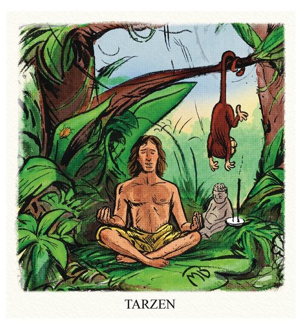 A calm Tarzan