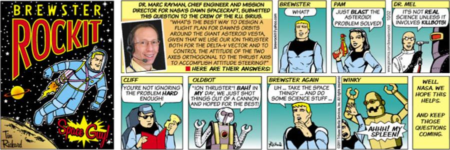 Brewster Rockit Comic Strip for October 02, 2011