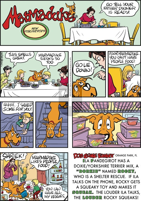 Marmaduke - Sunday April 7, 2019 Comic Strip