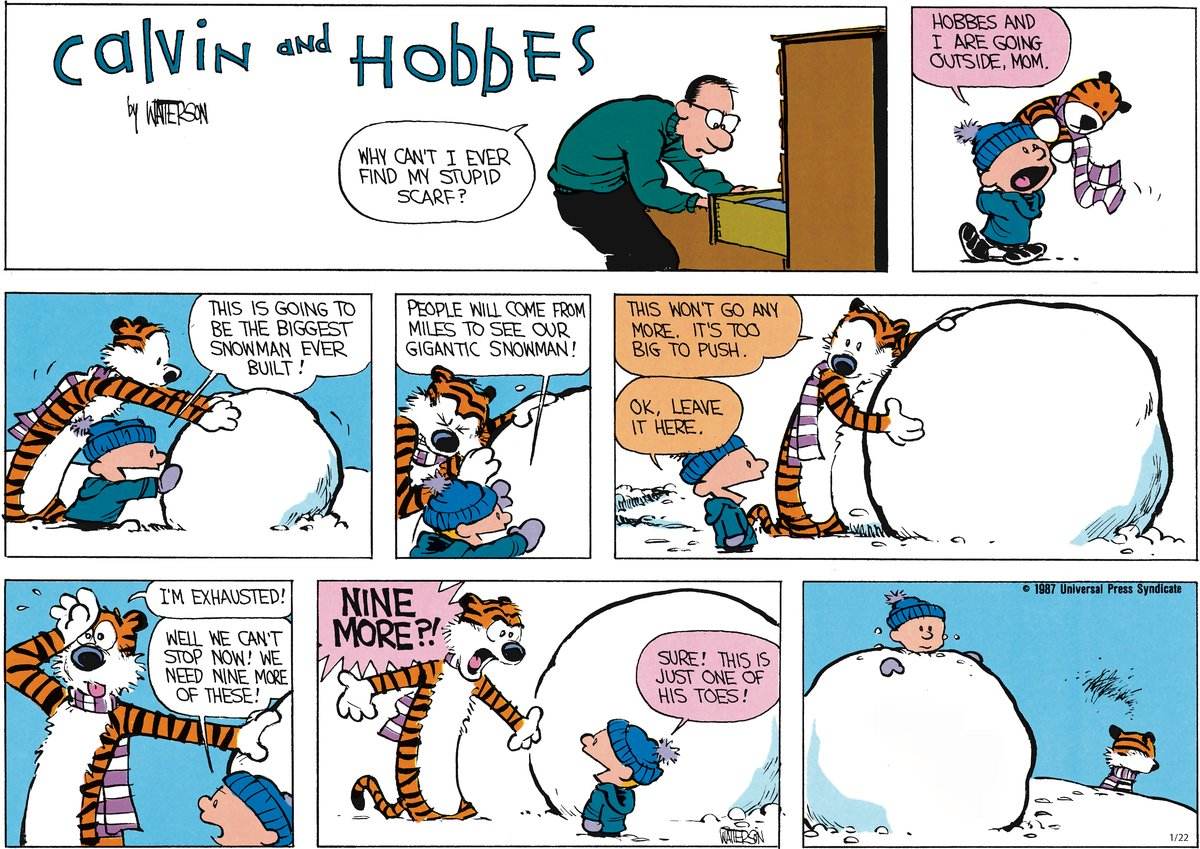 Calvin and Hobbes Comic Strip for January 22, 2012