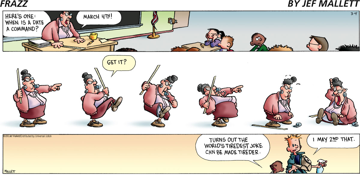 Frazz Comic Strip for March 04, 2012