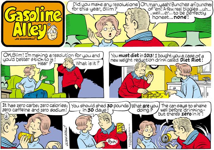 Gasoline Alley for Jan 6, 2013 Comic Strip