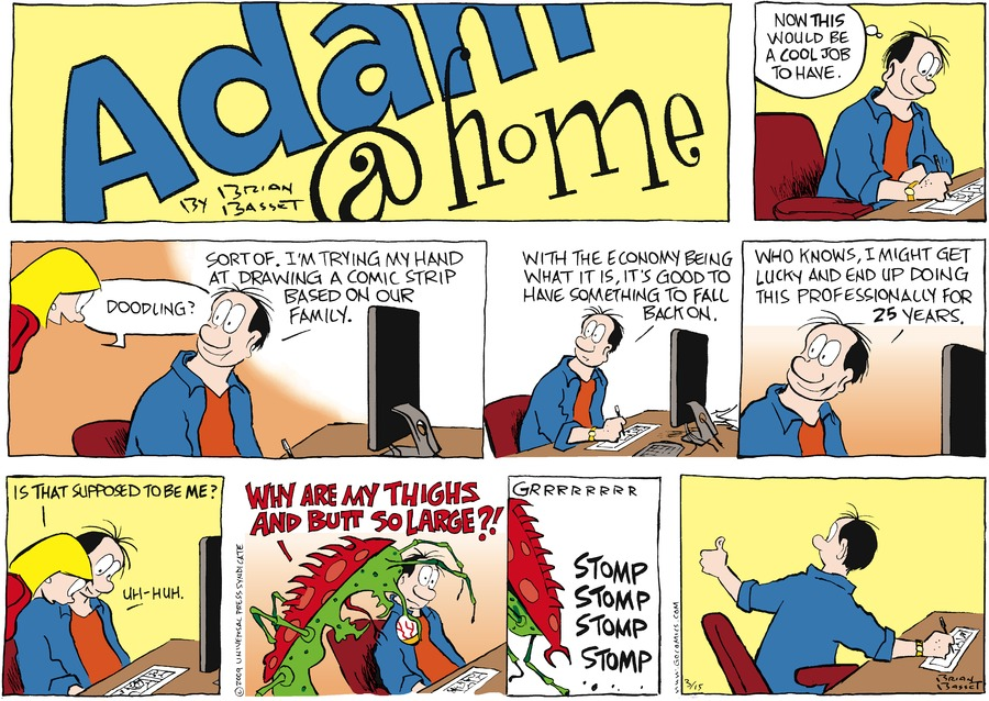 Adam@Home Comic Strip for March 15, 2009