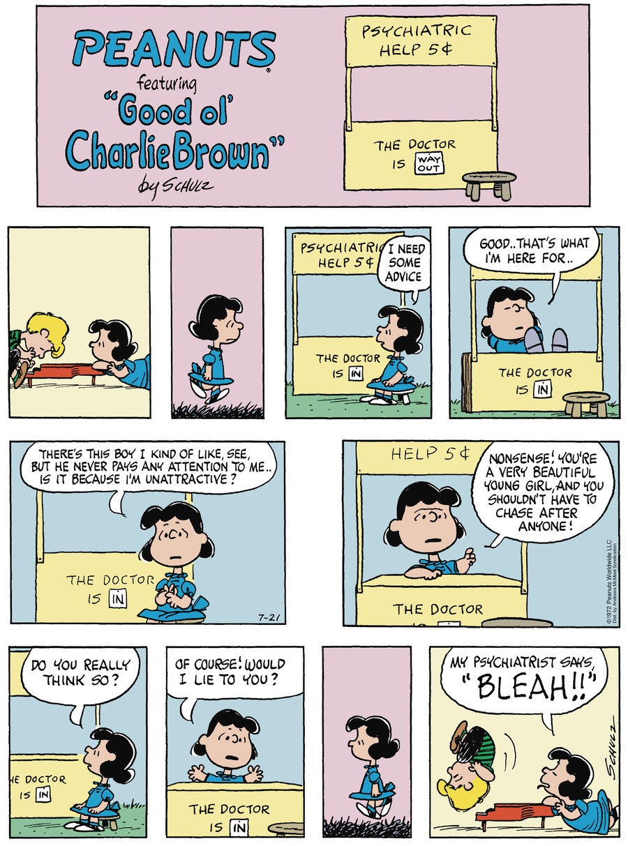 Peanuts Comic Strip for July 21, 2019