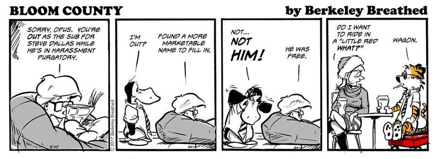 Bloom County 2018 for Dec 4, 2017 Comic Strip