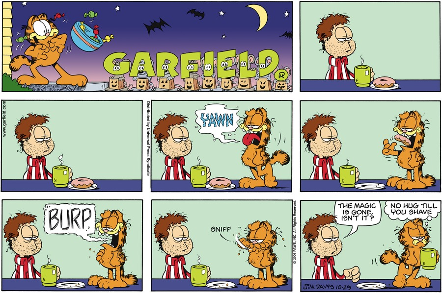Garfield Comic Strip for October 29, 2006