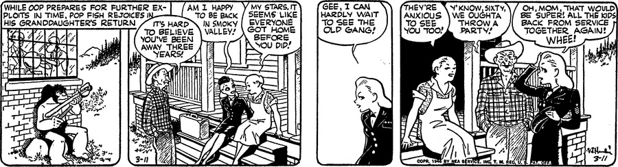 Alley Oop Comic Strip for March 11, 1946