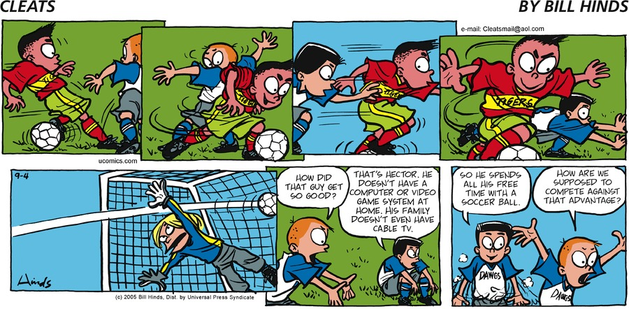 Cleats Comic Strip for September 04, 2005
