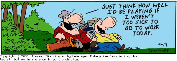Frank and Ernest Comic Strip for September 19, 2000