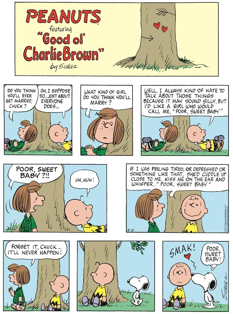 Peanuts Comic Strip for April 05, 2020