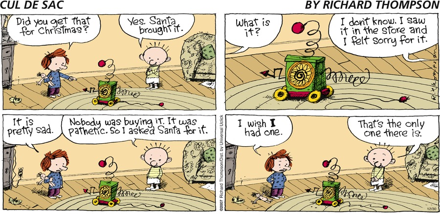 Cul de Sac for Dec 30, 2012 Comic Strip