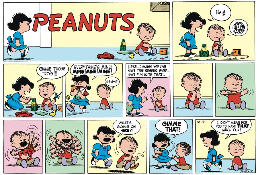 Peanuts Begins Comic Strip for December 19, 1954
