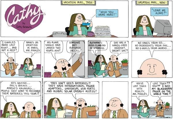 Cathy on Sunday July 28, 2013 Comic Strip