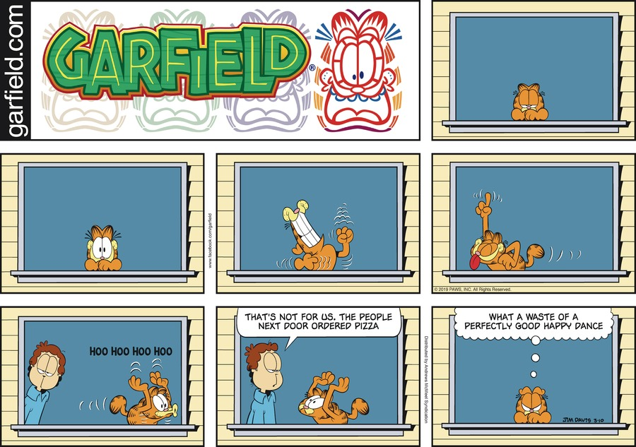 Garfield by Jim Davis for March 10, 2019