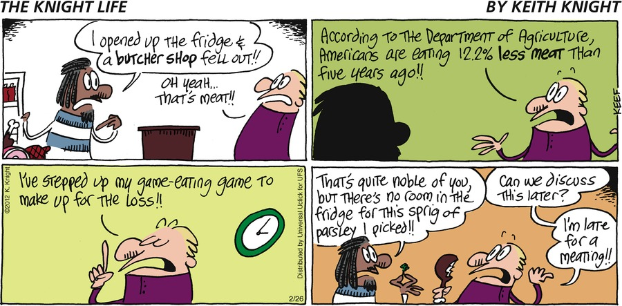The Knight Life Comic Strip for February 26, 2012