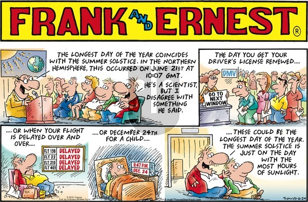 Frank and Ernest on June 24, 2018 Comic Strip