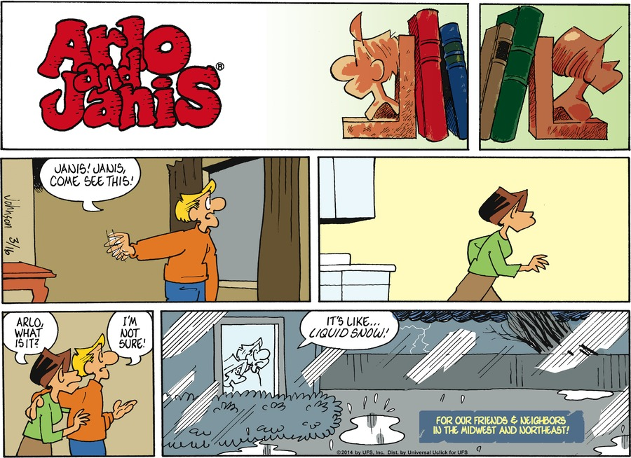 Arlo and Janis Comic Strip for March 16, 2014
