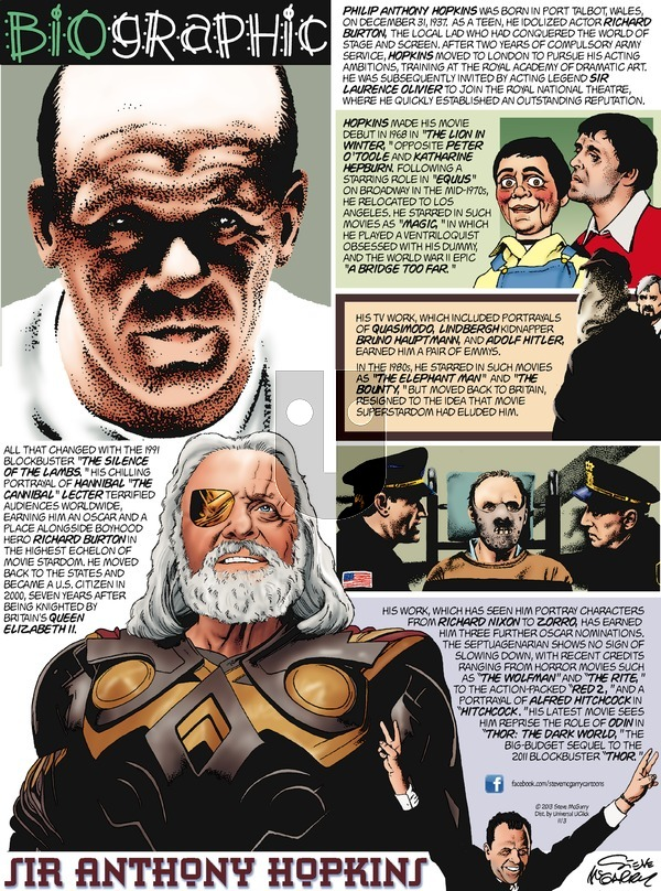 Biographic on Sunday November 3, 2013 Comic Strip