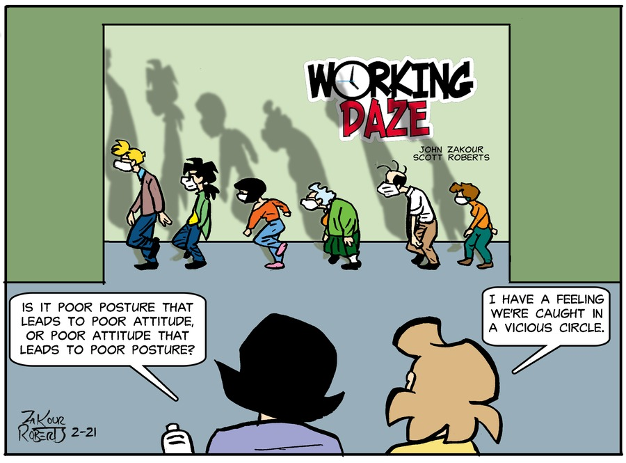 Working Daze Comic Strip for February 21, 2021