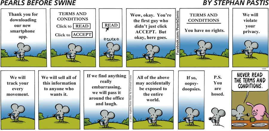 Stephan Pastis' Commentary on App LIcenses