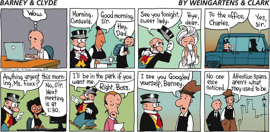 Barney & Clyde for Mar 17, 2013 Comic Strip