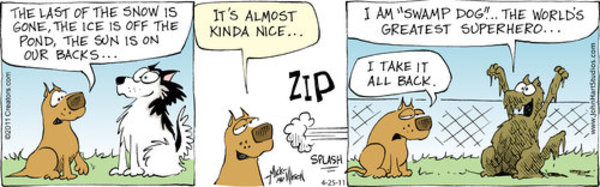 Dogs of C-Kennel Comic Strip for April 25, 2011