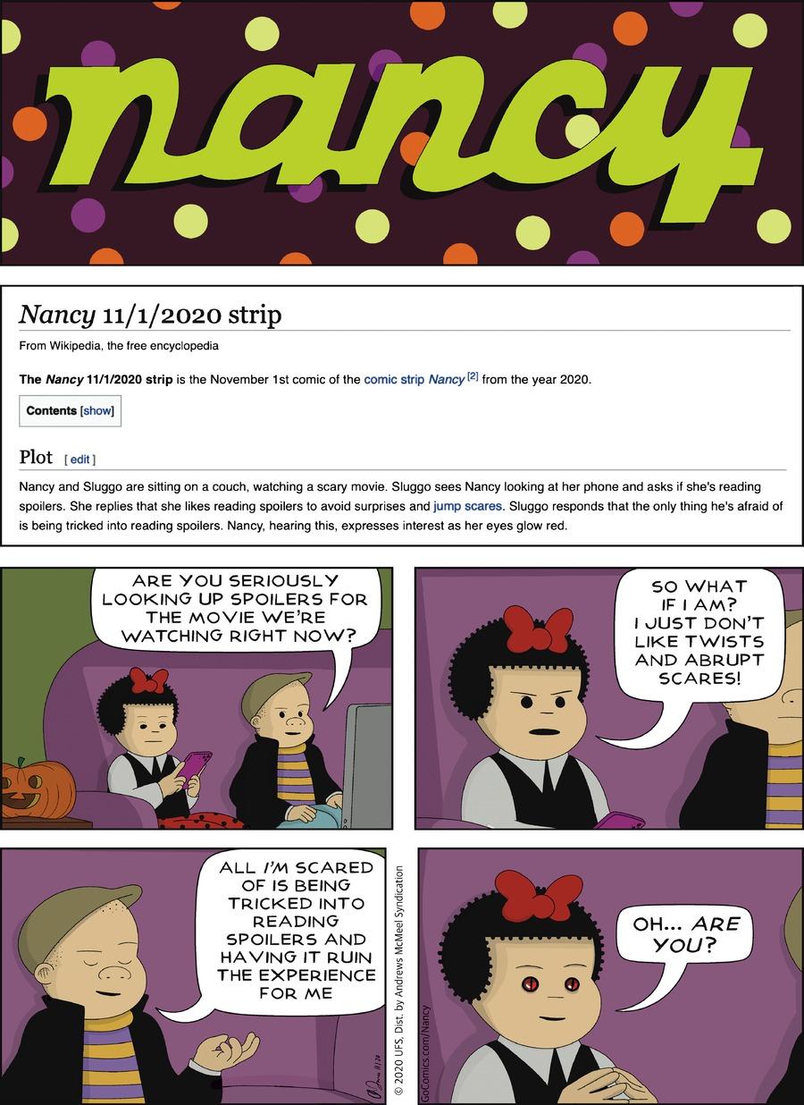 Nancy Comic Strip for November 01, 2020
