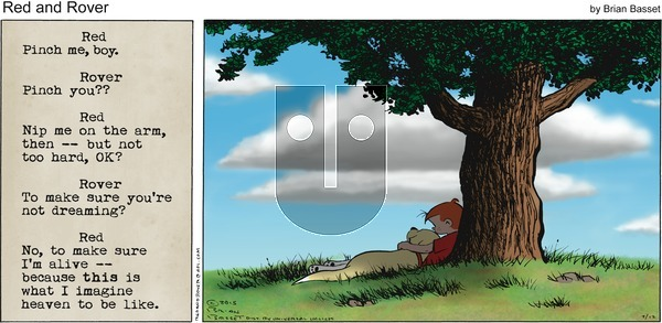 Red and Rover on Sunday July 12, 2015 Comic Strip