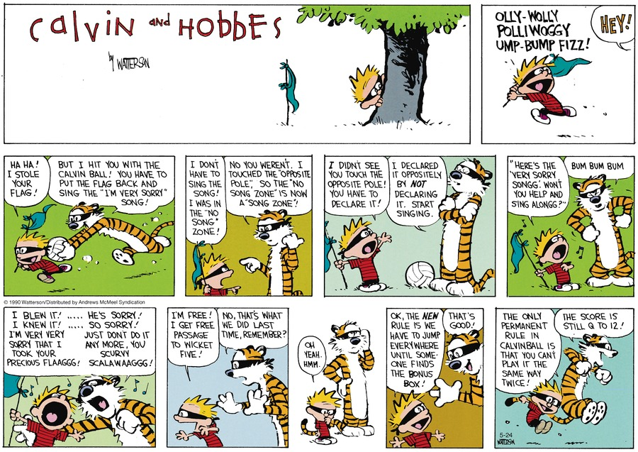 Calvin and Hobbes Comic Strip for May 24, 2020