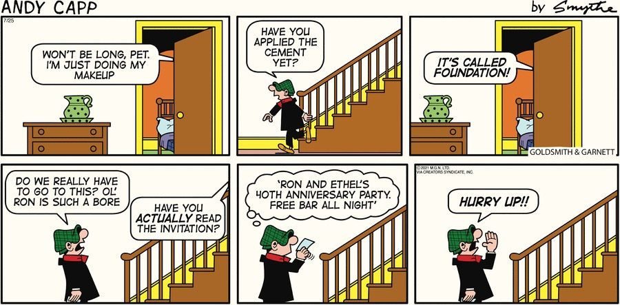 Andy Capp Comic Strip for July 25, 2021