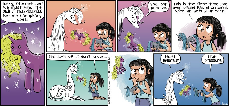 Phoebe and Her Unicorn for Aug 19, 2012 Comic Strip