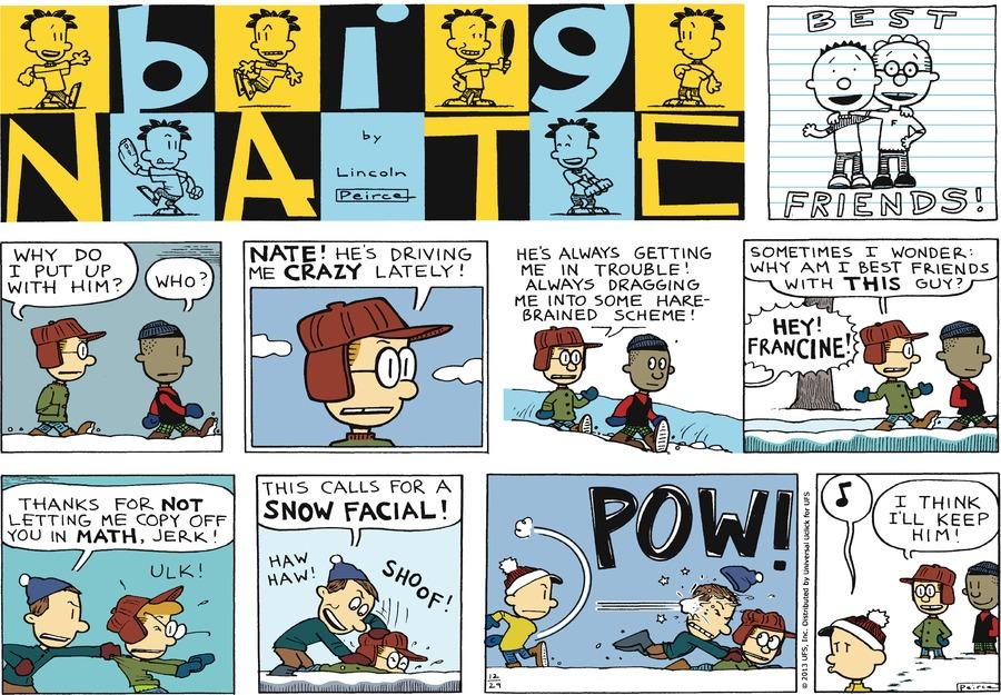 Big Nate Comic Strip for December 29, 2013