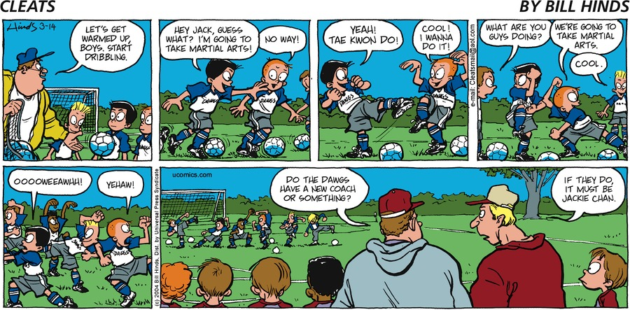 Cleats for Mar 17, 2013 Comic Strip
