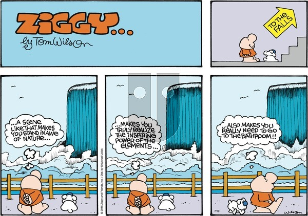 Ziggy on Sunday July 19, 2015 Comic Strip