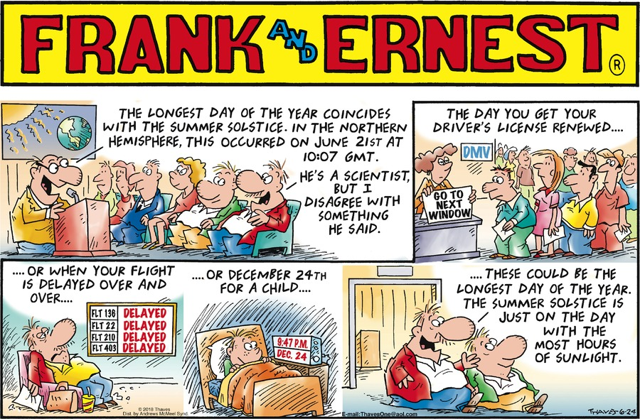 Frank and Ernest Comic Strip for June 24, 2018