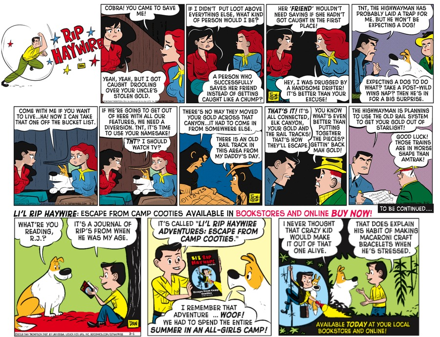 Rip Haywire Comic Strip for July 31, 2016