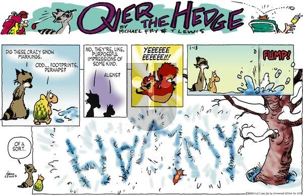 Over the Hedge on Sunday January 18, 2015 Comic Strip